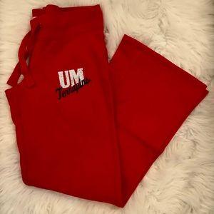 Univ of Maryland sz medium red soft sweatpants EUC